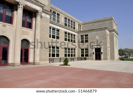 Exterior of Liberty High School in Bethlehem, Pennsylvania - stock photo