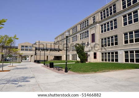 Exterior of Liberty High School in Bethlehem, Pennsylvania