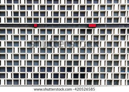 Exterior of modern building. Architectural background. - stock photo