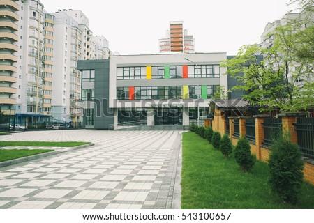 Exterior modern school building stock photo 543100657 for Exterior design school