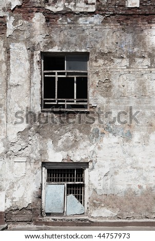 exterior of old building - stock photo