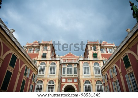 Exterior of Palazzo Reale in Genoa, Italy - stock photo