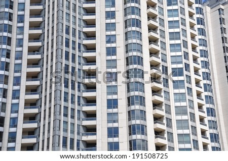 Exterior of residential building - stock photo