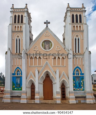 Exterior Of Sacred Heart Church In Ooty, India