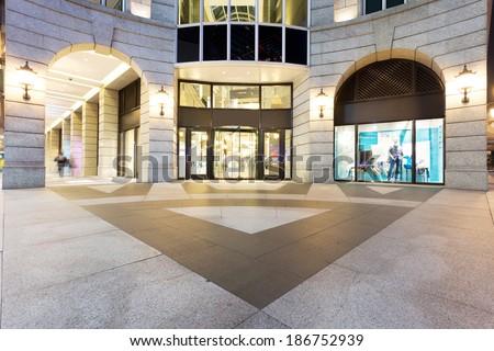 exterior of Shopping Center - stock photo