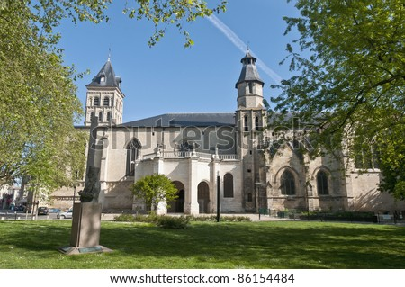 Exterior of the Basilica of Saint Seurin located at Bordeaux, France - stock photo