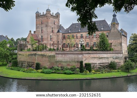 "Exterior of the old Castle ""Huis Bergh"" in the City of 's-Heerenberg Netherlands"