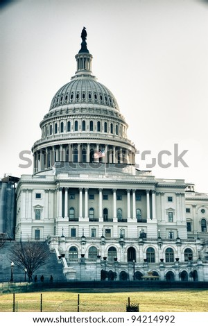 Exterior of United States Capitol building, Washington D.C, U.S.A.