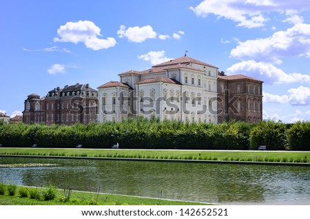 Exterior of Venaria Palace (Reggia di Venaria) near Turin, Italy - stock photo
