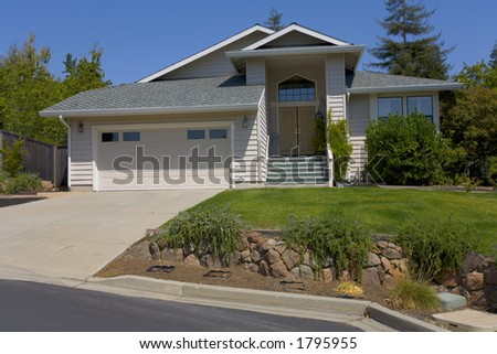 Exterior shot of a large suburban home.