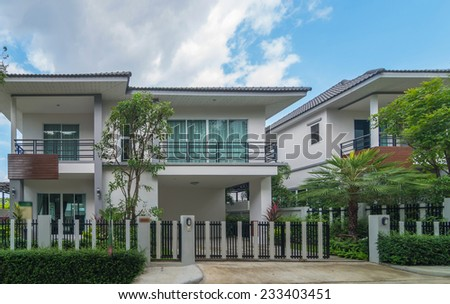 Exterior Townhome or Townhouse - stock photo