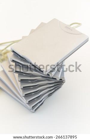 external disk drive technology junk - stock photo