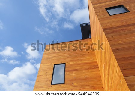External facade of a modern house