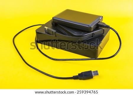 External Hard-disk - stock photo