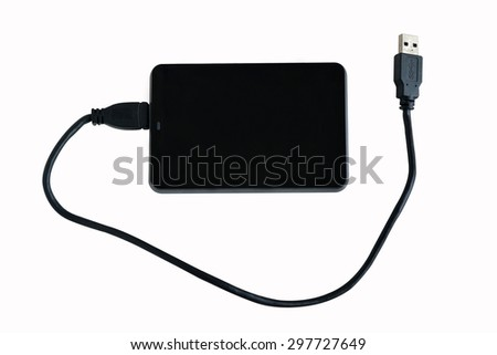 External Hard Disk on isolated background - stock photo