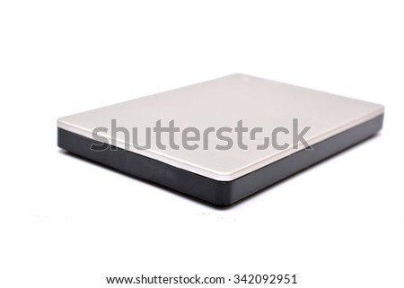 External hard drive back up isolated - stock photo