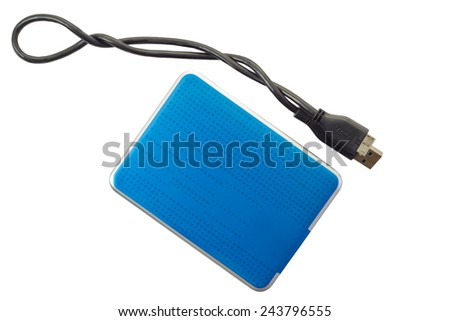 External Harddisk drive isolated on white background and clipping path