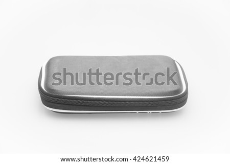 external HDD hard disk case, isolated on white background