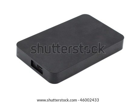 External HDD. Isolated object