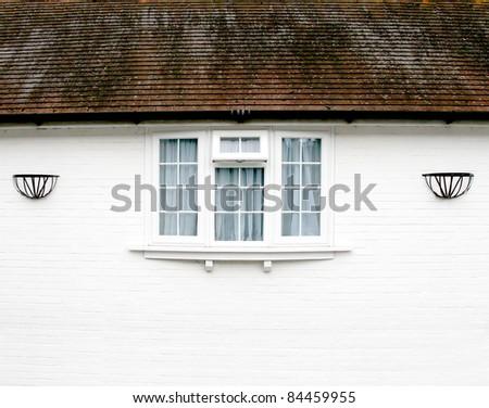 External Window under a roof - stock photo