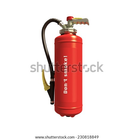 extinguisher isolated on white background - stock photo