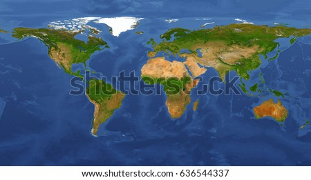 Extra Large Big Map Highest Detail Stock Illustration - Highest river in the world