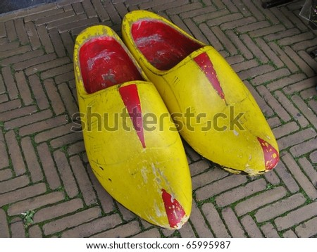 Extra large wooden shoes