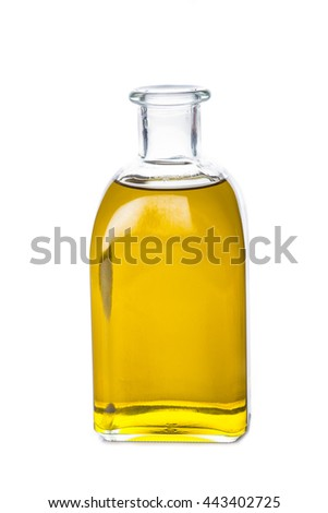 Extra virgin olive oil bottle isolated on a white background - stock photo