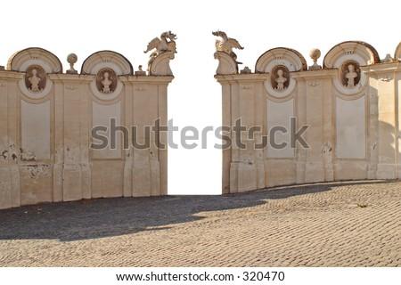 Extracted Italian Walls - stock photo