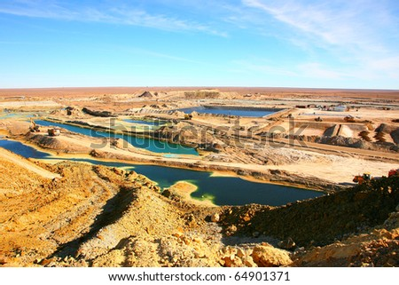 Extraction of copper from ore - stock photo