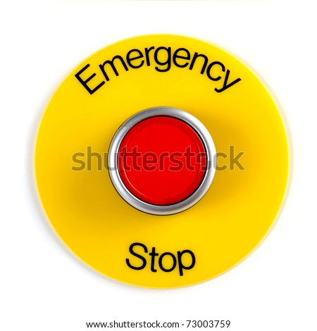 Extreme Closeup Image Emergency Stop Switch Stock Photo Edit Now