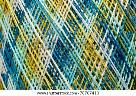 extreme close up of a ball of string texture - stock photo