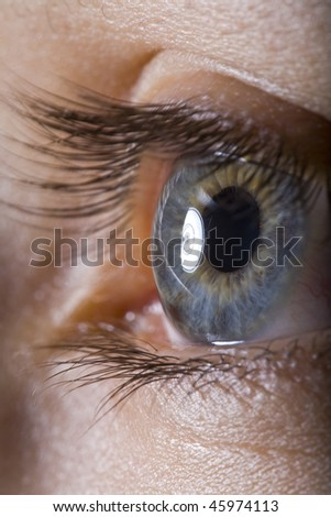extreme close up of eye