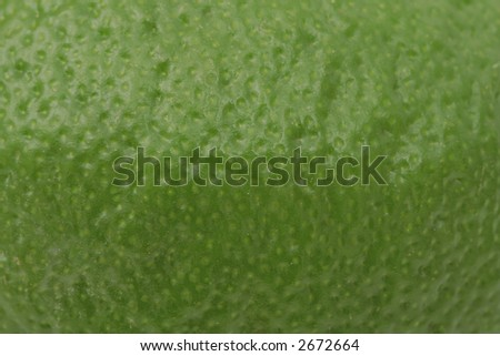 Extreme close-up of lime skin