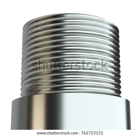 Extreme close up of screw thread. 3d illustration