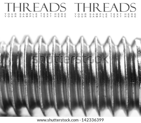 Extreme close up shot of screw thread