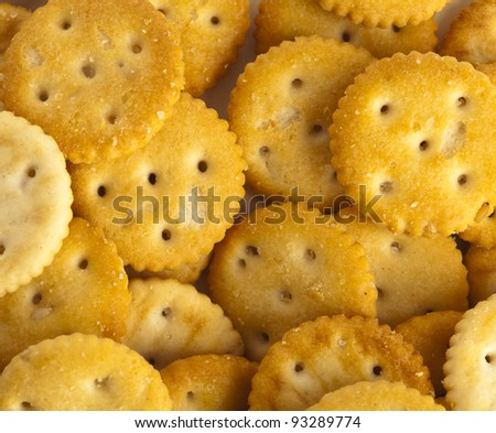 extreme closeup of a delicious salted cookies - stock photo