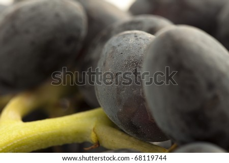 extreme closeup of a fresh grapes stack - stock photo