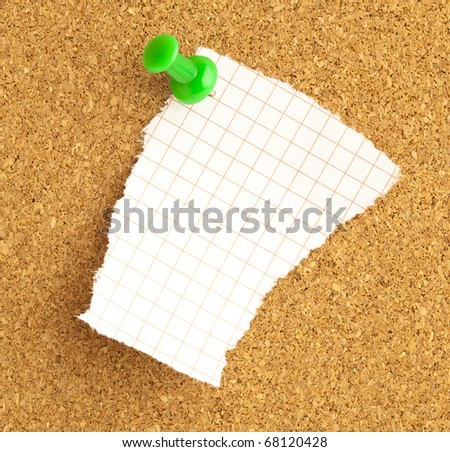 extreme closeup of a notes on billboard - stock photo