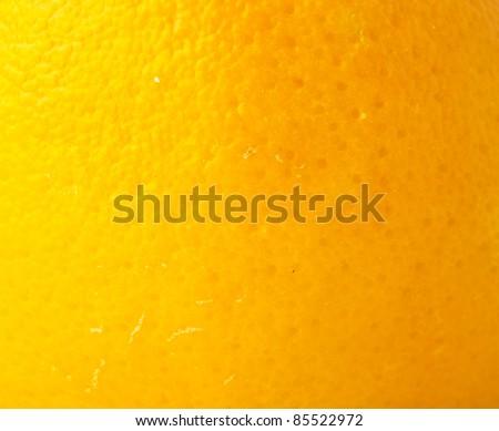 extreme closeup of a orange fruit texture - stock photo