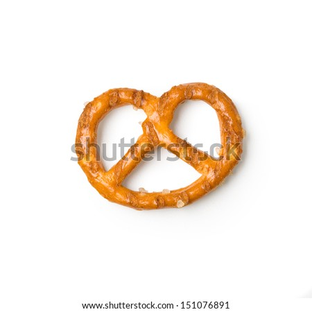 extreme closeup of a salted cookies stack. With clipping path. - stock photo