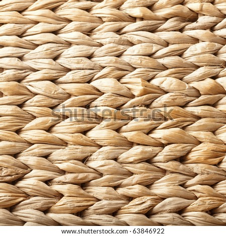 extreme closeup of a vintage wicker texture - stock photo