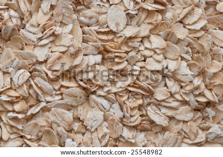 extreme closeup of oat cereal