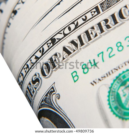 Extreme closeup of USA dollar bank note