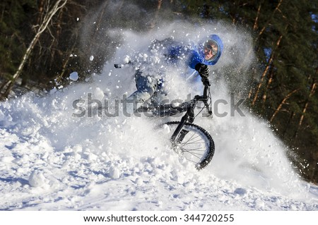mountainbike snow winter extreme-#22