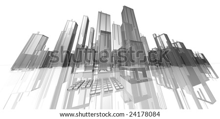 extreme focal cityscape glass - skyline