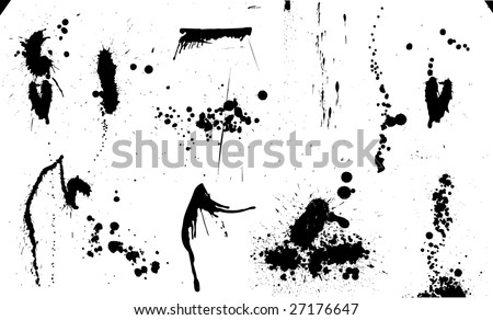 extreme high res ink drops / paint splash