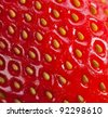 Extreme macro of strawberry texture -background - stock photo