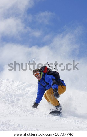 extreme snowboarding - stock photo