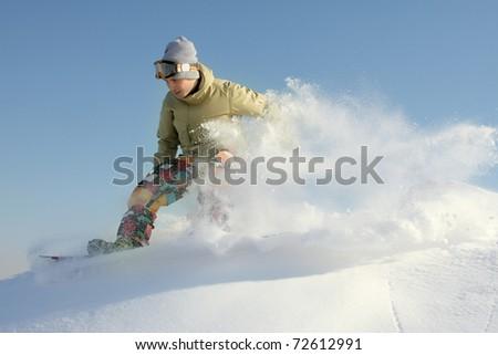 extreme snowboarding - stock photo